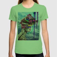 Lost In Space Womens Fitted Tee Grass SMALL