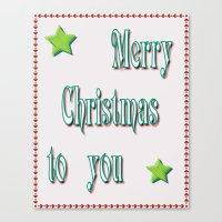 Merry Christmas Canvas Print