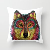MoonWolf  Throw Pillow