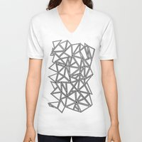 Abstract New Black On Wh… Unisex V-Neck