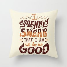 I am up to no good Throw Pillow