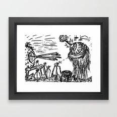 B-Movie Framed Art Print