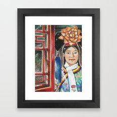 beijing hostess Framed Art Print