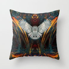 The Great Grey Owl Throw Pillow