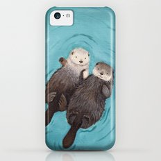 Otterly Romantic - Otters Holding Hands iPhone 5c Slim Case