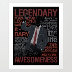 Barney Stinson - Legenda… Art Print