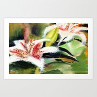 Rectory Series: Lilies Art Print
