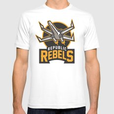 Republic Rebels Mens Fitted Tee White SMALL