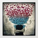 Butterflies In my head. Canvas Print