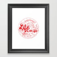 Life Is All Right (RED) Framed Art Print