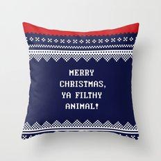 Home Alone – Merry Christmas, Ya Filthy Animal! Throw Pillow