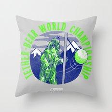 Tether-Bear World Champoin Throw Pillow