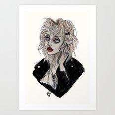 Courtney love cobain Art Print