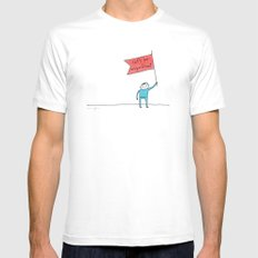 let's be magnificent SMALL White Mens Fitted Tee