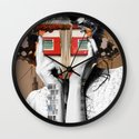 Crazy Woman - Lisa Lara Bella Wall Clock
