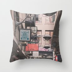 Melbourne Laneway Throw Pillow