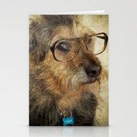 Hipster Dog Stationery Cards