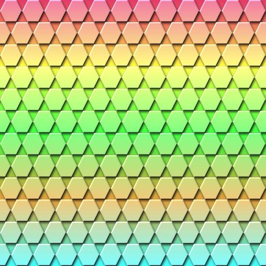 Hex Pattern Art Print