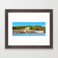 Excerpt from a Lovely Day at Portsmouth Harbor Framed Art Print