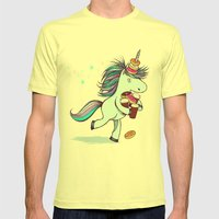 The Intern Mens Fitted Tee Lemon SMALL