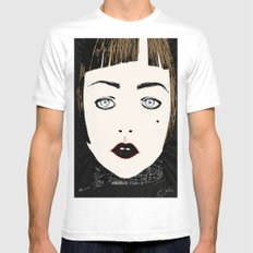 Gretta White SMALL Mens Fitted Tee