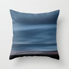 Skyscape Blue Throw Pillow