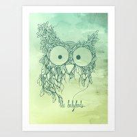The Babybirds Owl 02 Art Print