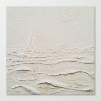 Sculpted Seascape Canvas Print