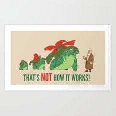 Conflicting Theories Art Print
