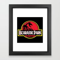 Bearassic Park Framed Art Print