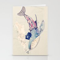 Pirate Whale Stationery Cards