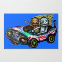 A Trip By Car Canvas Print