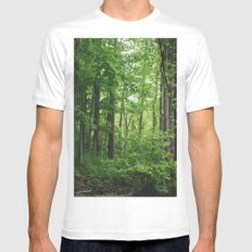 Forest SMALL Mens Fitted Tee White