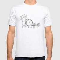 Donuts Mens Fitted Tee Ash Grey SMALL