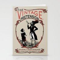 Ye Oldé Vintage Pretens… Stationery Cards
