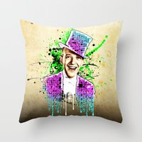 Fred Astaire, new steps.  Throw Pillow