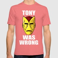 Tony Was Wrong Mens Fitted Tee Pomegranate SMALL