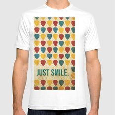 Just Smile. Mens Fitted Tee SMALL White