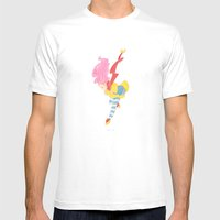 jump jump jump! jumping down! Mens Fitted Tee White SMALL