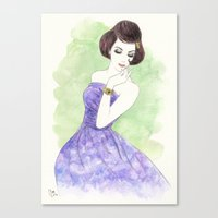 'Nadia' Watercolor Fashi… Canvas Print
