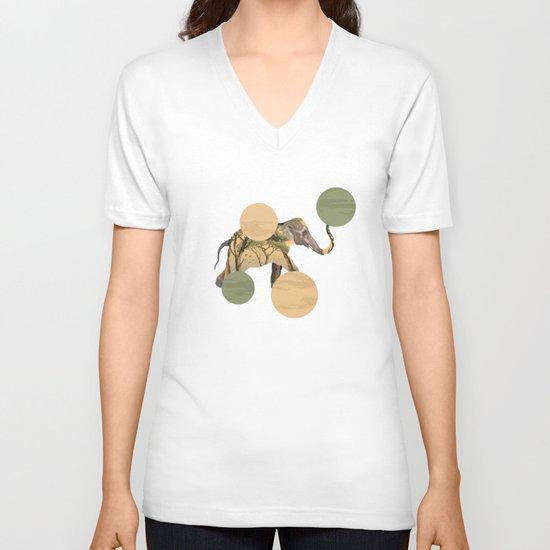 Elephant Polka V-neck T-shirt