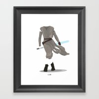 Rey - The Force Awakens Framed Art Print
