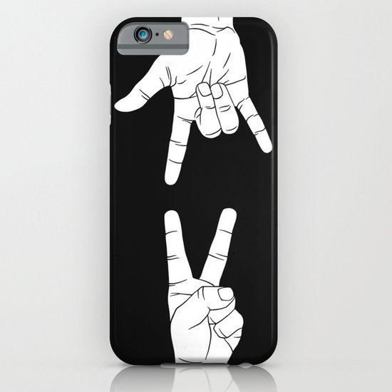 Peace Love and Rock N Roll iPhone & iPod Case