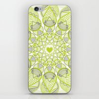 Green Circle Pattern iPhone & iPod Skin