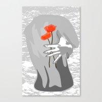 Poppy Back Canvas Print