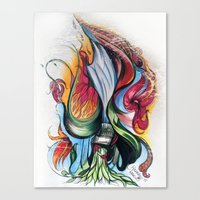 Knife Flower Canvas Print