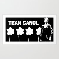 Team Carol 2 Art Print