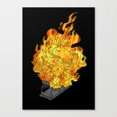 BURN YOUR FAT! Canvas Print