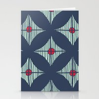 Repeat With Red Berries Stationery Cards