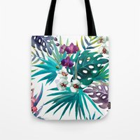 Tropical Watercolor Pattern Tote Bag